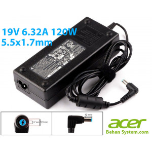 Acer Laptop Notebook Charger Adapter 19V 6.32A 120W 5.5x1.7mm