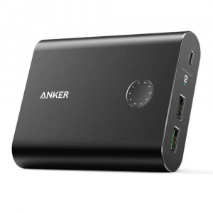 پاوربانک Anker مدل A1316 PowerCore Plus With Quick Charge 3.0 ظرفيت 13400 ميلي آمپر ساعت