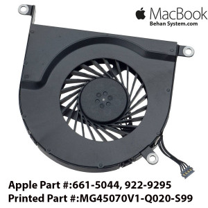 Apple Macbook Pro A1297 17 inch Laptop Left CPU Fan 661-5044, 922-9295