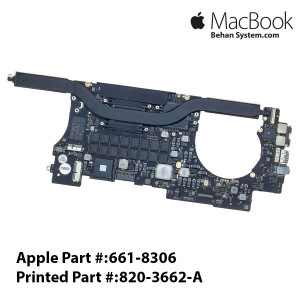 "Logic Board MAINBOARD MOTHERBOARD Apple MacBook Pro Retina 15"" A1398 2.3GHz Intel Core i7 (I7-4850HQ) 820-3662-A"