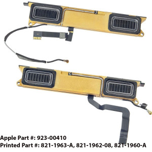 Apple MacBook Retina A1534 12 inch Laptop NOTEBOOK Speaker 821-1963-A, 821-1962-08, 821-1960-A