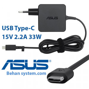 ASUS Laptop Notebook Charger Adapter 15V 2.2A 33W USB Type-C