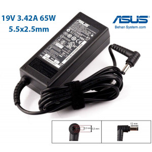 ASUS Laptop Notebook Charger Adapter 19V 3.42A 65W Normal Tip 5.5x2.5