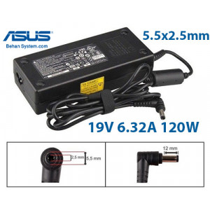 ASUS Laptop Notebook Charger Adapter 19V 6.32A 120W Normal  5.5x2.5