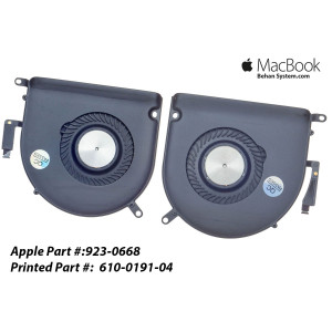 "LEFT RIGHT CPU FAN COOLING Apple MacBook Pro Retina 15"" A1398 610-0191-04"