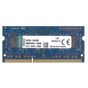 KVR16LS11/4 Kingston 4GB PC3-12800 DDR3-1600MHz