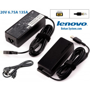 Lenovo Laptop Notebook Charger Adapter 20V 6.75A 135W square with pin