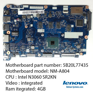 Motherboard Mainboard LENOVO cpu vga laptop notebook IP110 Ideapad 110-15IBR Intel NM-A804 N3060 SR2KN 5B20L77435