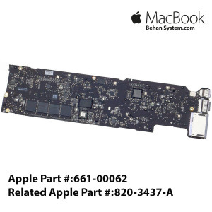 "Logic Board MAINBOARD MOTHERBOARD Apple MacBook Air 13"" A1466 820-3437-A 661-00062"