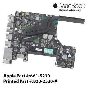 "Logic Board MAINBOARD MOTHERBOARD Apple MacBook PRO 13"" A1278 MacBookPro5,5 Mid 2009 MB990 661-5230 820-2530-A"