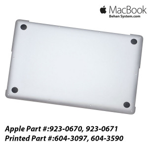 "Lower Case Bottom Apple MacBook Pro Retina 15"" A1398 - 604-3097, 604-3590"