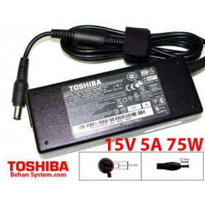 Toshiba Laptop Notebook Charger Adapter 15V 5A 75W