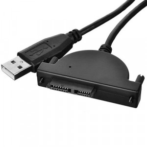 USB convert Adapter Cable for 6+7 13Pin Laptop SATA Optical Drive