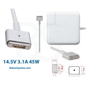 Apple Laptop Notebook MacBook Charger Adapter 14.5V 3.1A 45W Magsafe2 RETINA (5 pin magnet Magsafe2)