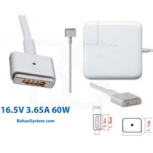 Apple Laptop Notebook MacBook Charger Adapter 16.5V 3.65A 60W Magsafe2 RETINA (5 pin magnet Magsafe2)