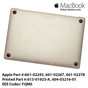 Lower Case Bottom MacBook8,1 Early 2015 apple Macbook Retina A1534 613-01923-A, 604-03216-01