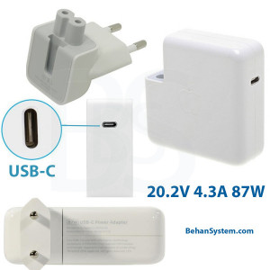 Apple Power Adapter A1719 20.2V-4.3A 87W USB-C TYPE C for MacBook Pro Touch Bar A1990 EMC 3215