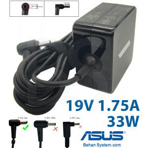 ASUS Laptop Notebook Charger Adapter 19V 1.75A 33W Normal Tip AD890026