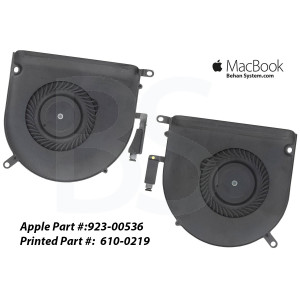 "LEFT RIGHT CPU FAN COOLING Apple MacBook Pro Retina 15"" A1398 MacBookPro11,4 Mid 2015 610-0220"