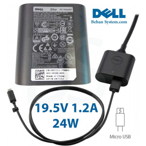Dell Tablet Charger Adapter 19.5V 1.2A 24W Micro USB