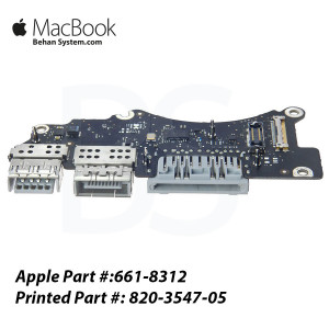"HDMI, SDXC, and USB IO Board CONNECTOR Apple MacBook Pro Retina 15"" A1398 661-8312,820-3547-05"