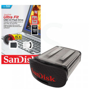 SanDisk Cruzer Ultra Fit USB 3.0 Flash Memory 64GB
