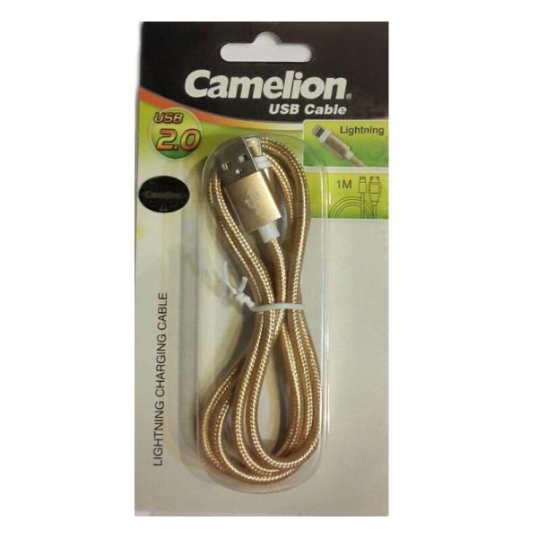 کابل USB به لایتنینگ camelion مدل CDC012-BP به طول 120 سانتیمتر