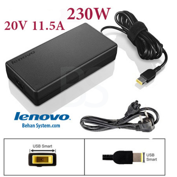 Lenovo Laptop Notebook Charger Adapter 20V 11.5A 230W square with pin