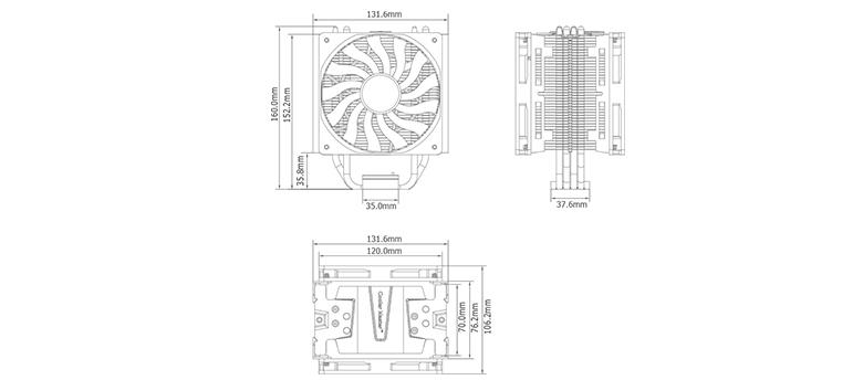 cooler master hyper 412 slim cpu fan  u0642 u06cc u0645 u062a  u062e u0631 u06cc u062f  u0645 u0634 u062e u0635 u0627 u062a